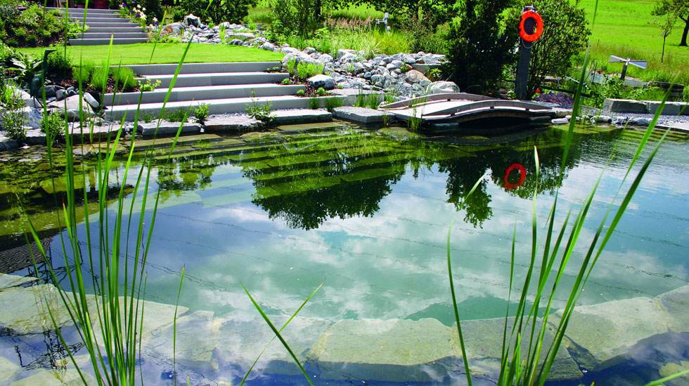 Biotop natural pools garden ponds nature pools - The pond house nature above all ...