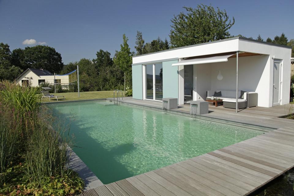 Biotop zwemvijvers tuinvijvers natuurvijvers - Pool quadratisch ...